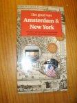 MAAS, LINDA, - Het goud van Amsterdam & New York. Wandelen en fietsen langs de gezamenlijke geschiedenis van twee financiele centra.