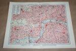 - Oude kaart/ plattegrond - Londen (City en Westend)  - circa 1905