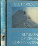 Naar, Ronald [ Fotos van auteur  ] tekeningen van Wilbert Vernooij te Haarlem - IJle horizon  Klimmen op zeven continenten