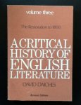 David Daiches - A Critical History of English Literature The Restoration to 1800 volume 3