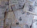 Barnard, Henk - Aantal (24) knipsels van en over Henk Barnard - 14 recensies, 6 interviews, 2 verhalen, 2 div.