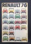 Renault - Renault jaarboek 76