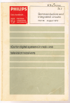 Philips - 6b : Semiconductors and integrated circuits part 6b  August 1979 : IC's for digital systems in radio and television receivers - television receivers