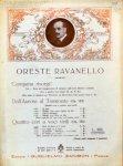 Ravanello,  Oreste: - [Konvolut 3 Chorwerke, für Männerchor] Quattro cori op. 123. Nr. 1. A sera Nr. 2. Nebbia, Quattro cori op. 128. Nr. 1. Inno al mare