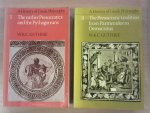 Guthrie, W. K. C. - A History of Greek Philosophy. Vol. I The earlier Presocratics and Pythagoreans. Vol. II The Presocratic tradition from Parmenides to Democritus