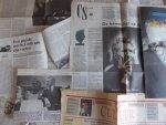 Mulisch, Harry - Aantal (8) knipsels rond de 65e verjaardag van Harry Mulisch