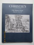 Christie's London - Auction Catalogue : Old Master Prints • Wednesday 8 July 1998