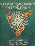 Portielje, A.F.J. - Zeewater- aquarium en terrarium