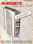 AHREND & ZOON, Wed. J. - Ahrend's prijscourant No. 70 van kantoorboeken en opbergsystemen. November 1940. (En:) Ahrend's wegwijzer door de technische vakliteratuur 1941-'42.
