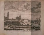 antique print (prent) - Delft van binnen na de verwoesting veroorzaakt door `t springen van den kruidtooren in `t jaar 1654 (..).