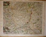Allardt, Hugo - Dioecesis Leodiensis accurata tabula [Limburg] Originele kopergravure