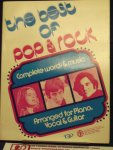 Walter Kane & Son - The best of pop & rock / complete words & music, Arranged for Piano, Vocal & Guitar