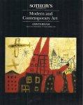 Sotheby's - Veilingcatalogus , modern and contemporary art, 13 december 1990 sale 544