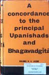 Jacob, Colonel G.A. - A concordance to the principal Upanishads and Bhagavadgita