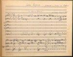 """Haydn, Joseph: - [Hob XXIIIb:1b, Moderne Abschrift der Partitur] Salve Regina / Autograph im Besitze von Breitkopf / / """"In Nomine Domini"""" / Giuseppe Haydn 756"""