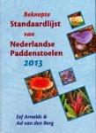 Arnolds, Eef & Berg, Ad van den - Beknopte Standaardlijst van Nederlandse Paddenstoelen 2013