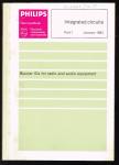 Philips - 1 :  integrated circuits part 1  Januari 1983 : Bipolar IC for radio and audio equipment