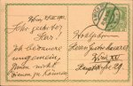 Kienzl, Wilhelm: - [Eigenh. Postkarte mit Ort, Datum und Unterschrift]