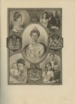 Vlaanderen, André (illustraties) - Gedenkboek 1898-1923. Ter herinnering aan het 25 jarig regeeringsjubileum van H.M. Koningin Wilhelmina. Tevens Practisch Handboek voor het Huisgezin.