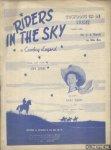 Jones, Stan & Em. V.d. Brande en Wim Bos (Nederl. Tekst) - Riders in the Sky. A cowboy legend. Cowboys in de lucht