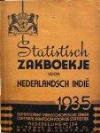 MANSVELT, W.M.F. & Departement van Economische Zaken & Centraal Kantoor voor de Statistiek - Statistisch zakboekje voor Nederlandsch Indië 1935