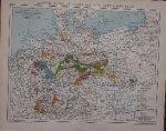 antique map (kaart). - Deutsche Industrie, Bergwerks und Huttenproduktion.