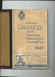 - Supplement Hanboek van de Koninklijke Nederlandsche Automobiel Club, 1941