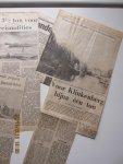 Kunstveilingen Mak van Waay B.V. - Achttien geil. krantenknipsels uit de Telegraaf met nieuws over de talrijke geveilde schilderijen, periode 1969 -1976