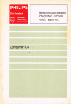 Philips - 5b : Semiconductors and integrated circuits part 5b  August 1977 : consumer ic's - ics