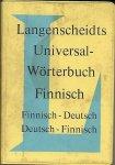 - Langenscheidts Universal-Wörterbuch Finnisch - Finnisch-Deutsch/Deutsch-Finnisch