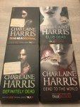 Charlaine Harris - 4 Books of Charlaine Harris; Dead as A doornail, Club dead, dead to the world & Definitely Dead