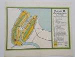 antique map (kaart). - Amsterdam tot 1450. Plattegrond.