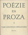 Leeuwen, W. L. M. E. van & F. G. A. Stemvers - POËZIE EN PROZA UIT NOORD- EN ZUID-NEDERLAND IN TWEE DELEN - Een bloemlezing ten dienste van het litteratuuronderwijs