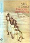 Guma La Alex  Omslag Peter van Hugten.  Omslagillustratie  Robert Nix - Uur van de afrekening  Roman uit Zuid-Afrika