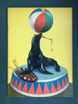 - Colouring book, on front sea lion in circus, on back little black african girl  Serie I Bimbi Dipingono N. 1
