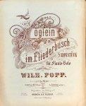 Popp, Wilhelm: - Vöglein im Fliederbusch. Salonstück für Flauto-Solo. Mit Piano
