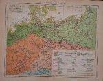 map. kaart. karte. - Tiergeographie II. Tierverbreitung in Deutschland (Animals in Germany).