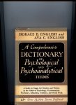 English, Horace and Ava C. - A comprehensive dictionary of Psychological and Psychoanalytical terms
