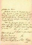 Franz, Robert: - [Eigenh. Brief mit Ort, Datum, und Unterschrift]