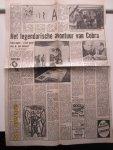 Wingen, Ed - Het legendarische avontuur van Cobra. Paginagroot en geil. artikel in de Telegraaf van zaterdag 17 april 1976